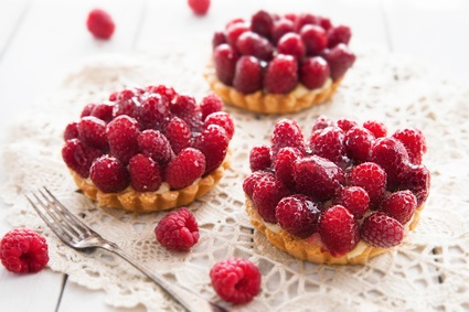 Delicious tart with berry fruits
